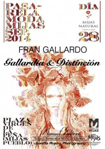 Cartel Fran Gallardo Mijas Natural